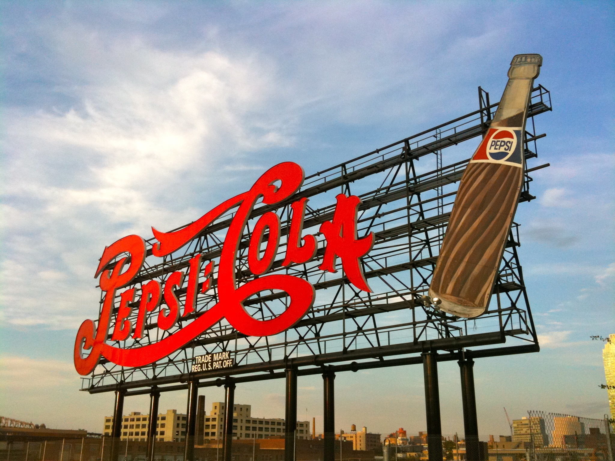 Pepsi Cola Sign