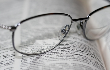 bifocals and words